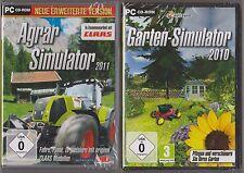 Agrar Simulator 2011 + Garten Simulator 2010 Sammlung PC Spiele