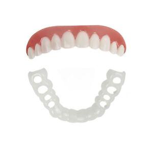 Pair of Fits All Flex Teeth Top & Bottom Cosmetic Veneer Instant Perfect Smile