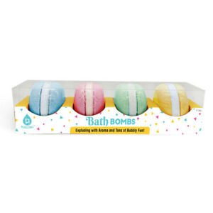 Pursonic Macaroon Bath Bombs Gift Set (4-Piece)
