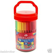 Faber-Castell Connector Pen Bucket Set of 50 Colours Colourful Marker + Extra