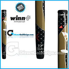 Winn Excel Medallist Midsize Pistol 19th Hole Putter Grip – Black / Olive + Tape