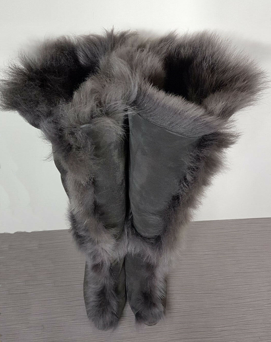 Pedro Garcia Sully Boot Grey Suede  Shearling Lining    Open Toe Womens Various Sz bbae98