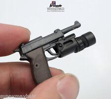 1/6 Simulation German Weapon Toy WWII Walter P38 P-38 Pistol Mini Gun Model