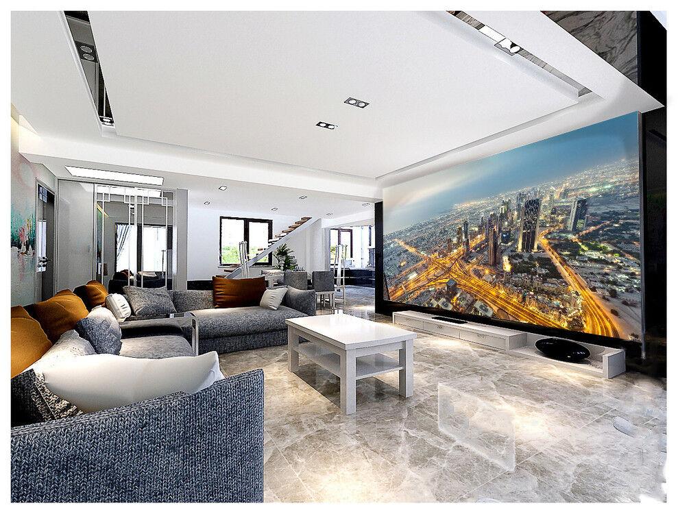 3D Himmel Stadt Verkehr 8933 Tapete Wandgemälde Tapeten Bild Familie DE Lemon  | Fuxin  | Qualität  | Bestellungen Sind Willkommen