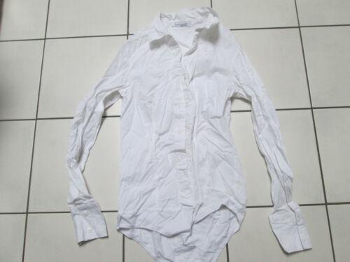 ❤ VIVIANCE COLLECTION ❤ Bodybluse Blusenbody Gr 34 XS weiß Langarm Body Bluse