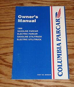 1988 columbia parcar golf car owners operators manual 88 ebay rh ebay com columbia par car manual buggies gone wild 1986 columbia par car manual