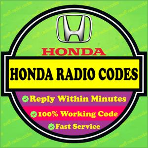 HONDA RADIO UNLOCK PIN CODE DECODE CIVIC CRV HRV JAZZ ACCORD INSIGHT FAST  ✅