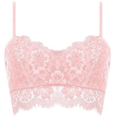 Sexy Women Lace Crochet Floral Bralette Bralet Bra Bustier Crop Top Cami Tank
