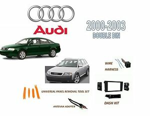 Details about AUDI 2000-2001 A6, 2001-2003 ALLROAD 2 DIN STEREO INSTALL on 2003 acura tl stereo wiring, 2001 ford mustang stereo wiring, 1997 buick lesabre stereo wiring, 1997 pontiac sunfire stereo wiring, 2007 ford focus stereo wiring, 2006 ford focus stereo wiring, 2001 chrysler sebring stereo wiring,