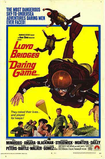 SCUBA DIVING  PARACHUTING 1968 original SKY DIVING movie poster LLOYD BRIDGES