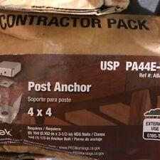 USP STRUCTURAL CONNECTORS PA44E-TZ 4x 4 2-Sided Post Anchor Triple Zinc P//1