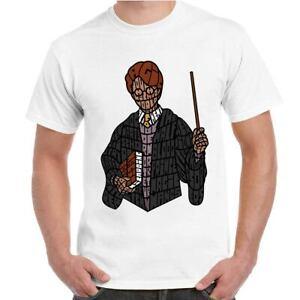 T-Shirt-Divertente-Uomo-Maglietta-con-Stampa-Ironica-Film-Harry-Potter-Wizard