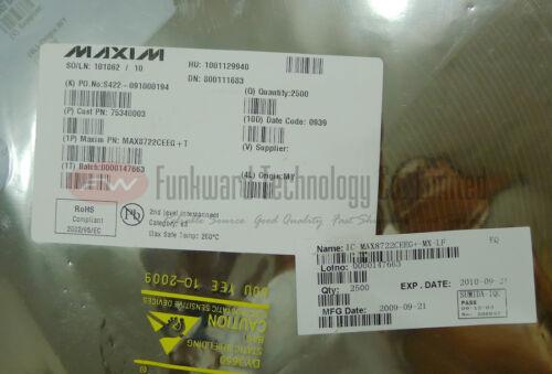 MAXIM MAX8722CEEG+T MAX8722 Display Driver CCFL Backlight Controller X 10pcs