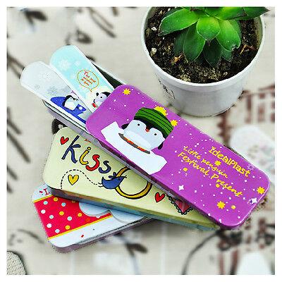 45 PCs/3Boxes Waterproof Cute Tin Box Cartoon Bandage Hemostasis Band aid lovely