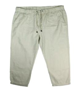 # Nouveau Janina Femmes Lin Capri-Pantalon 7//8 Pantalon Schlupfhose-Taille 46