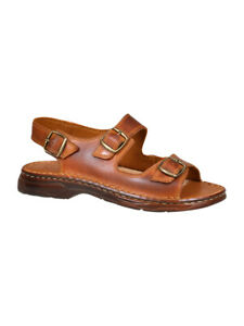New-Men-Comfortable-Genuine-Buffalo-Leather-Orthopedic-Sandals-Slip-On-Shoes