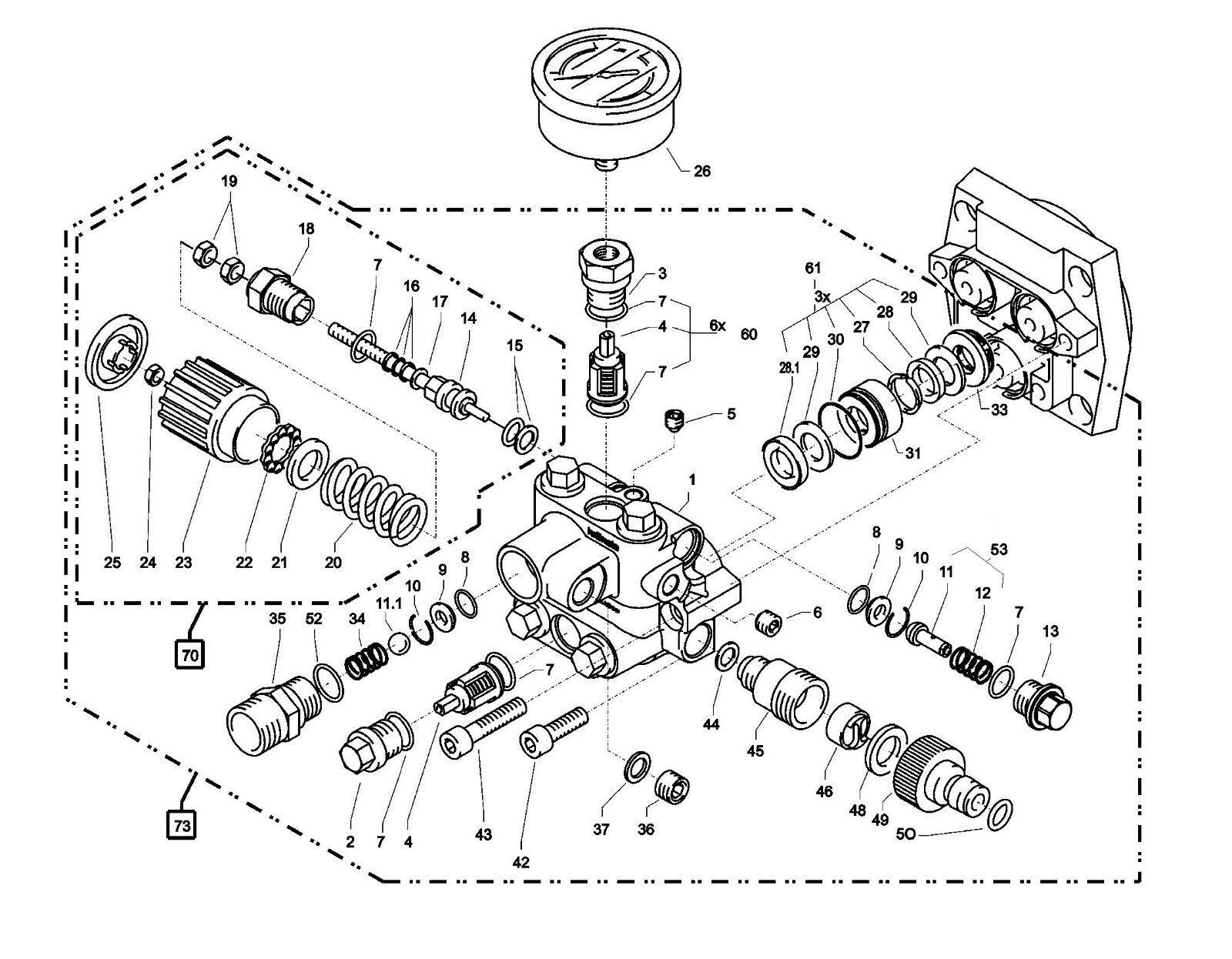 Kranzle Genuine K7//122 Parts RED UNLOADER VALVE 445321