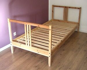 Bett Einzelbett Ikea Fjellse Mit Lattenrost 90x200cm Massiv