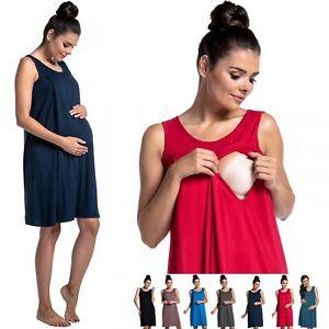 Zeta-Ville-Women-039-s-maternity-nursing-nightdress-breastfeeding-nightie-994c