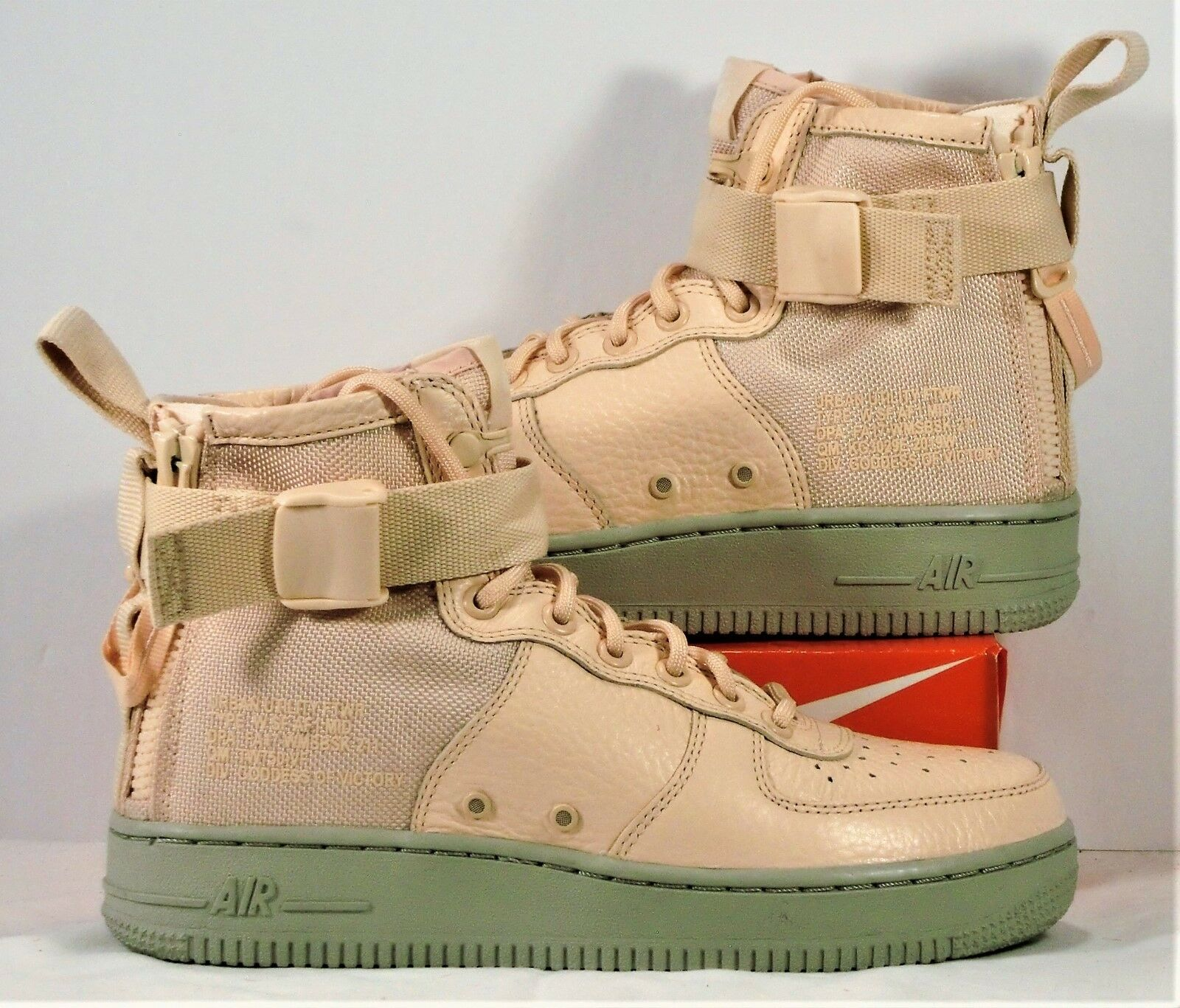 Nike SF AF1 Special Air Force Mid Field orange Quartz Sz 7 NEW AA3966 800 RARE