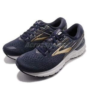 3c2c785657e1e Brooks Adrenaline GTS 19 2E Wide Navy Gold Grey Men Running Shoes ...