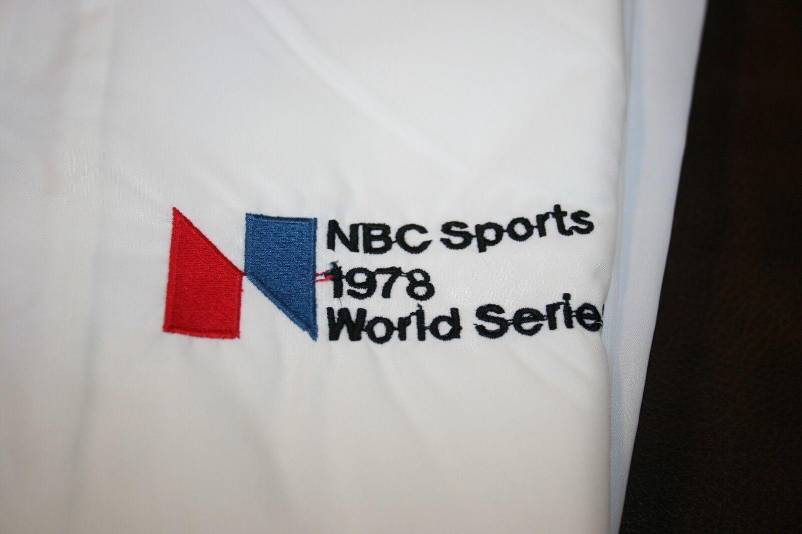 NBC SPORTS 1978 WORLD SERIES Mens Lined Windbreaker MEDIUM