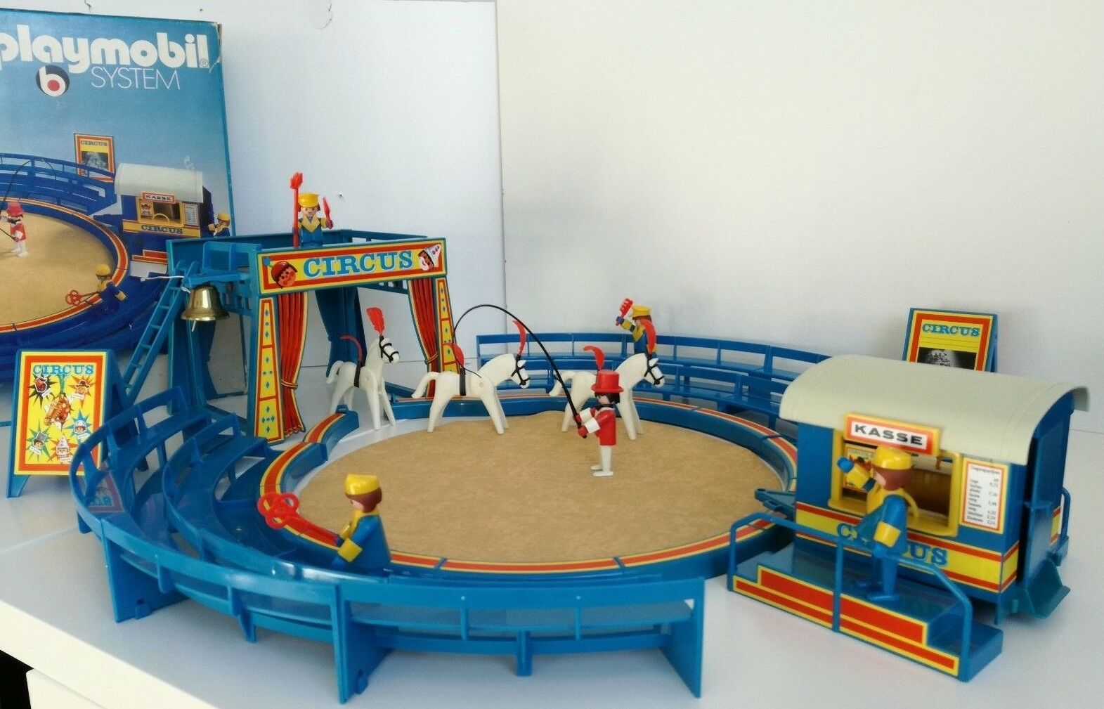Playmobil 3510 - Blau Circus   manege (complete with original Bell) in Box   OVP