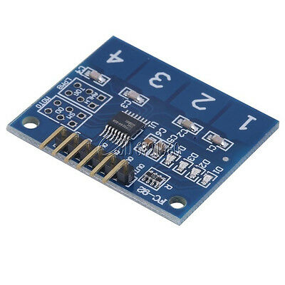 TTP224 4- Channel Digital Touch Sensor Module Capacitive Touch Switch Button