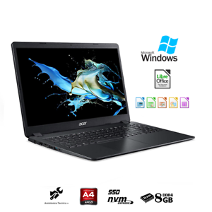 Notebook-Acer-pc-portatile-LCD-15-6-034-Ram-8Gb-SSd-NVMe-M-2-256Gb-Windows-10-Pro