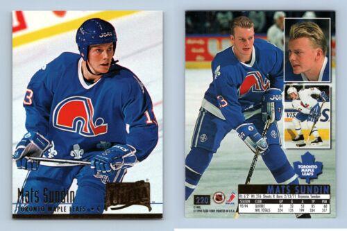 Mats Sundin-Hoja de Arce #220 Fleer Ultra 1994-5 hockey sobre hielo Trading Card