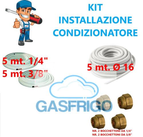 KIT INSTALLAZIONE FAI DA TE CONDIZIONATORE CLIMATIZZATORE TUBO RAME 1//4 3//8 MT 5