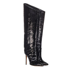 24f7762cf1e item 1 Women s Pointed Toe Sequins Glitter High Heel Knee High Boots  Fashion Calf Shoes -Women s Pointed Toe Sequins Glitter High Heel Knee High  Boots ...