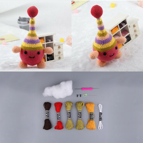 DIY Crochet Craft Kit for Cartoon 3D Cute Toy Doll Making Sewing Art Project
