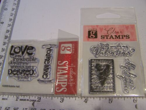 STUDIO G DEFINITION OF LOVE GREETING HEART STAMP  VALENTINE /'S DAY CLEAR STAMPS