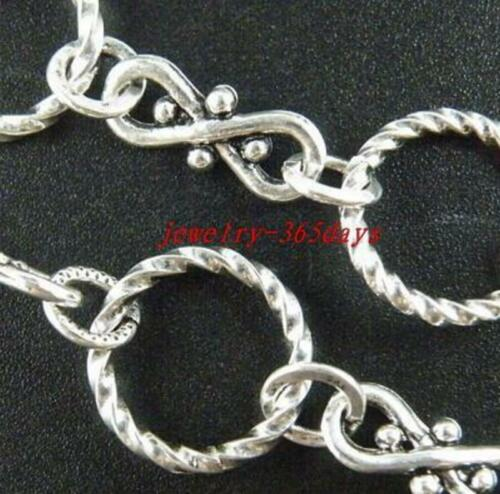 1PCS Silver Color 12Style-1 Chains 100cm Jewelry Making