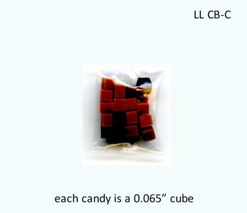 FANCY TINY CARAMEL SQUARES IN BAG Dollhouse Miniature 1:12 Scale LOLA MINIATURE