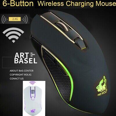 X9-White Rechargeable Wireless Silent led Backlit USB Optical Ergonomic Gaming Mouse mice 1 pcs
