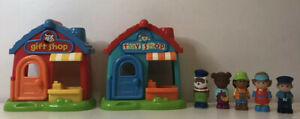 ELC HAPPYLAND village Bundle Jeu Set Gift Shop Toy Shop et 5 figures