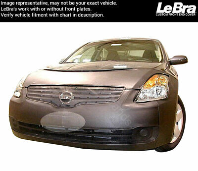 Nissan Altima 4 Door Sedan 2007-2009 with or Without Fog Lights Car Mask Bra Lebra 2 Piece Front End Cover Black Fits