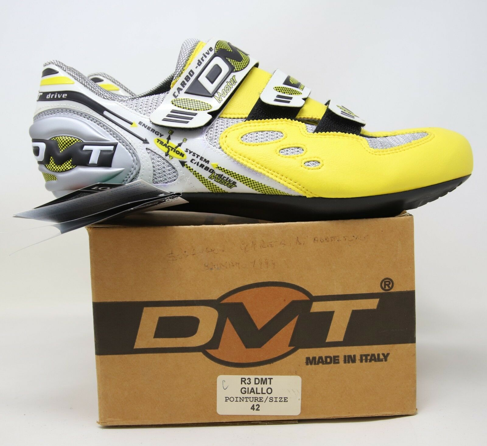 NOS DMT R3  ROAD RACING CYCLING SHOES SIZE MADE IN ITALY NIB  comfortable