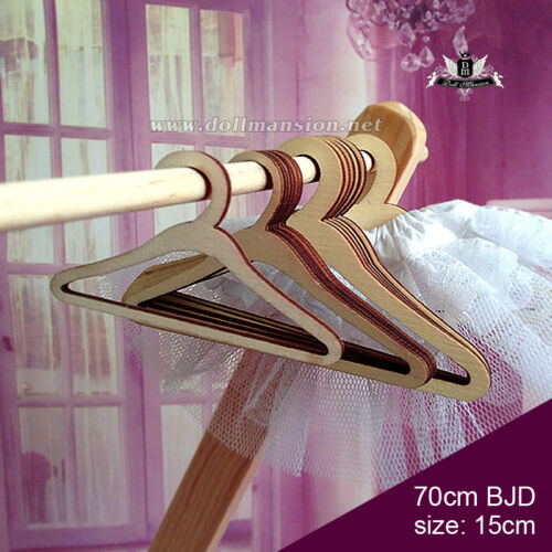 6pcs 70cm BJD size Doll Wood Clothes Hangers Coat Dollfie MID DOD SOOM DZ AF #62