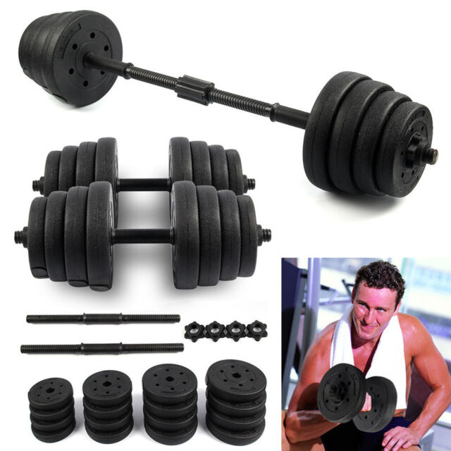 ab0c85b7e0b 30KG BARBELL DUMBBELL SET BAR HOME GYM FITNESS FREE WEIGHTS NON-SLIP  TRAINING