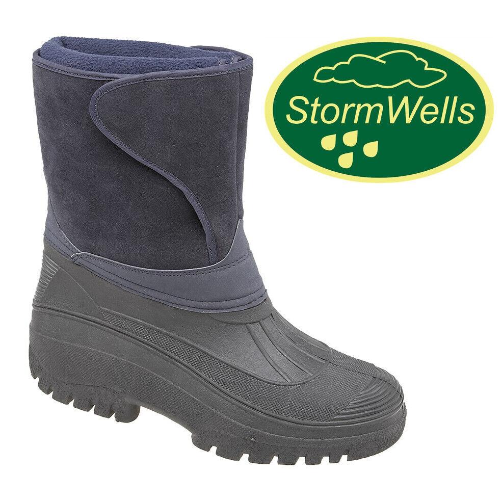 Stormwells Alpine Thermal Wellington Boots Water Resistant Fleece Lined Wellies