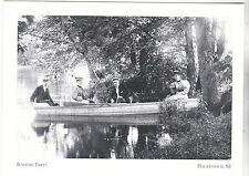 "~Post Card~""The Boating Party"" /4 People/Canoe Relaxing/ *Hackensack, NJ  (#201)"