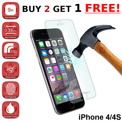 iPhone 4/4G/4S Premium Tempered Glass Screen Protector from Canada