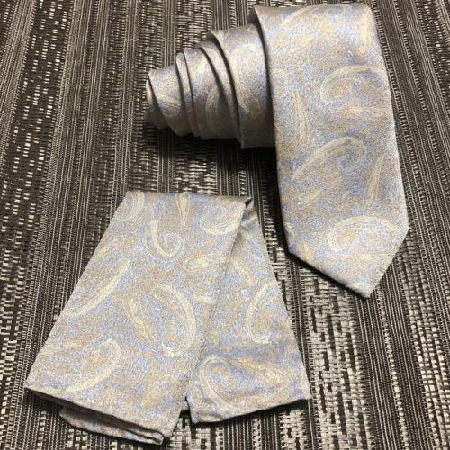 """Men/'s Laser Design Skinny Slim 2.75/"""" Neck Tie And Pocket Square Hankie Prom 2174"""