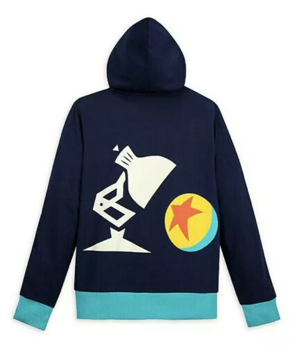 Disney Parks World Of Pixar Luxo Ball /& Luxo Jr Lamp Hoodie Jacket M L XL New