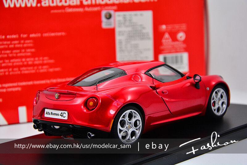 Autoart 1 18 Alfa Romeo 4C 4C 4C Red ac928d
