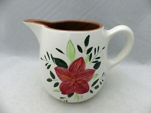 Stangl-Pottery-1-Qt-Pitcher-Country-Garden-Pattern-Disc-1978-EUC