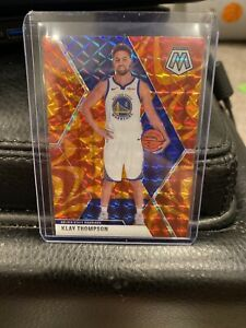 2019-20 Panini Mosaic Reactive Orange Klay Thompson #80